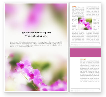 Nature & Environment: Blooming Flowers Word Template #03242