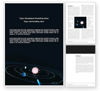 Education & Training: Solar System Word Template #03243