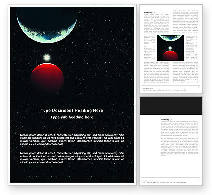 Red Planet Word Template, 03263, Education & Training — PoweredTemplate.com