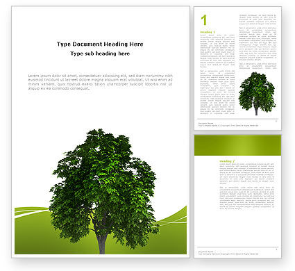 Nature & Environment: World Tree Word Template #03271