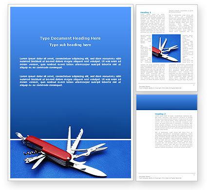 Pocket Knife Word Template, 03272, Utilities/Industrial — PoweredTemplate.com