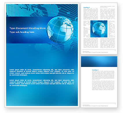 Global: Worldwide Word Template #03279