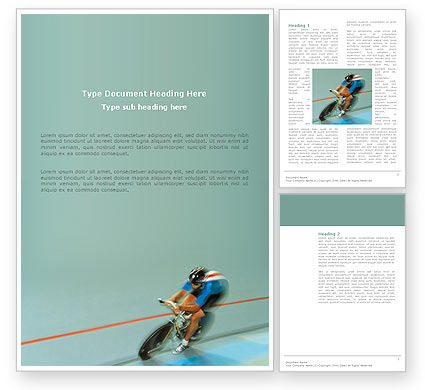 Sports: Racing On A Cycle Word Template #03280