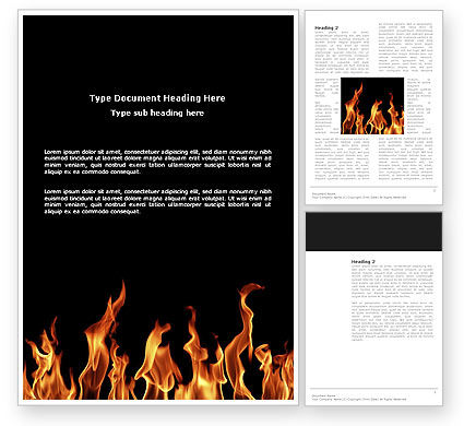 Abstract/Textures: Fire Word Template #03282