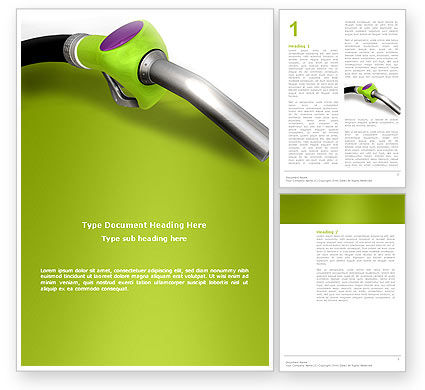 Nature & Environment: Biofuel Word Template #03288