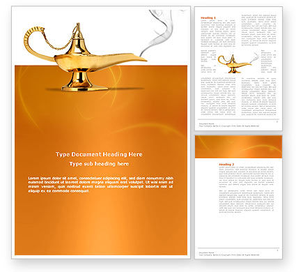 Abstract/Textures: Genie Lamp Word Template #03289