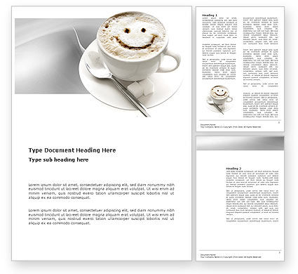 Food & Beverage: Cappuccino Cup Word Template #03298