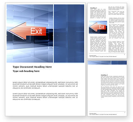 Consulting: Way To Exit Word Template #03300