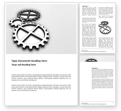 Utilities/Industrial: Gear Drive Word Template #03301