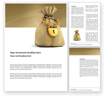Financial/Accounting: Bag Of Wealth Word Template #03303