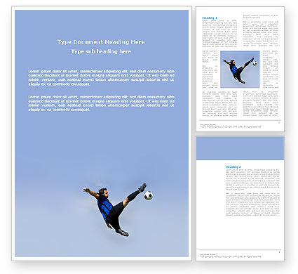 Sports: Football Ballet Word Template #03318
