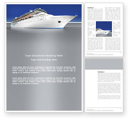 Cars/Transportation: Sea Liner Word Template #03319