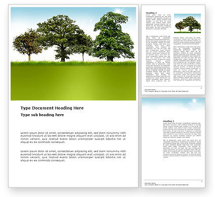 Trees Word Template, 03321, Nature & Environment — PoweredTemplate.com