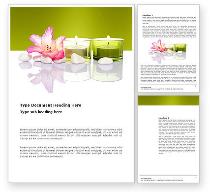spa treatment word template 03328 poweredtemplate com