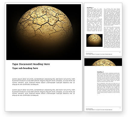 Nature & Environment: Desert Planet Word Template #03330