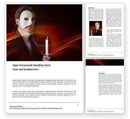Art & Entertainment: Masked Ball Word Template #03337