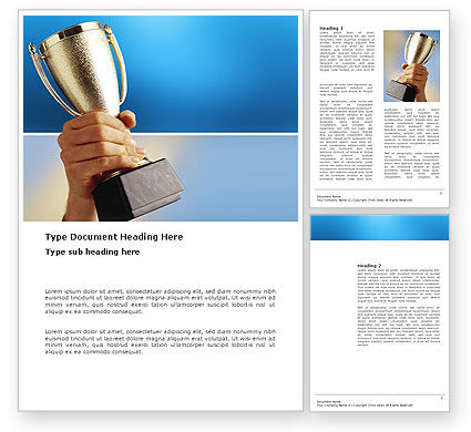 Business Concepts: Prize Cup Word Template #03341
