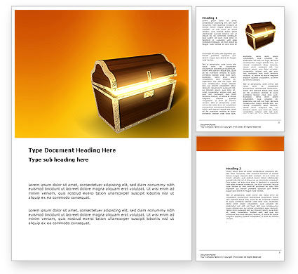 Business Concepts: Treasure Word Template #03343