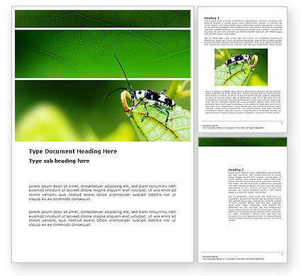 Bug's Life Word Template, 03347, Agriculture and Animals — PoweredTemplate.com