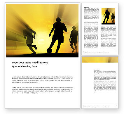 European Football Word Template, 03372, Sports — PoweredTemplate.com