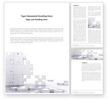 Business Concepts: Puzzle Wall Word Template #03387
