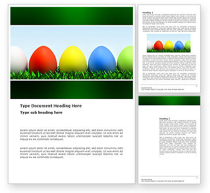 Holiday/Special Occasion: Easter Eggs Word Template #03396