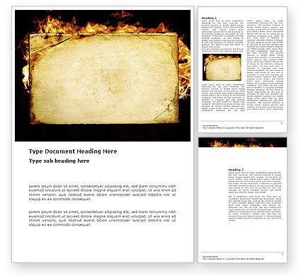 Abstract/Textures: Fire Board Word Template #03412