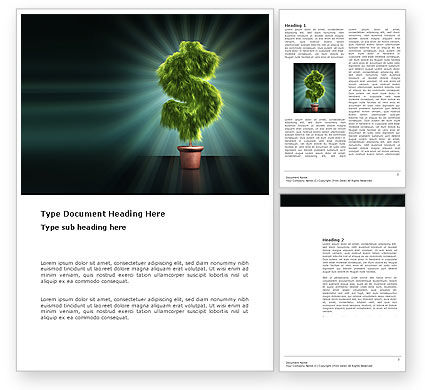 Financial/Accounting: Green Dollar Breeding Word Template #03414