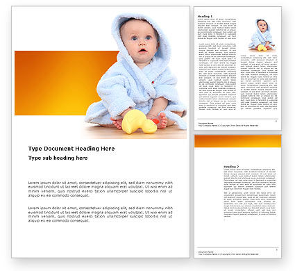 Little Baby Word Template, 03426, People — PoweredTemplate.com