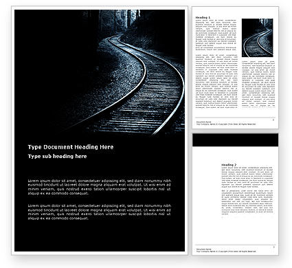 Railway Word Template, 03431, Business Concepts — PoweredTemplate.com