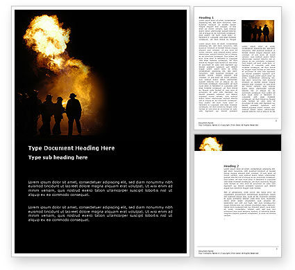 Fire Brigade Word Template, 03434, Careers/Industry — PoweredTemplate.com