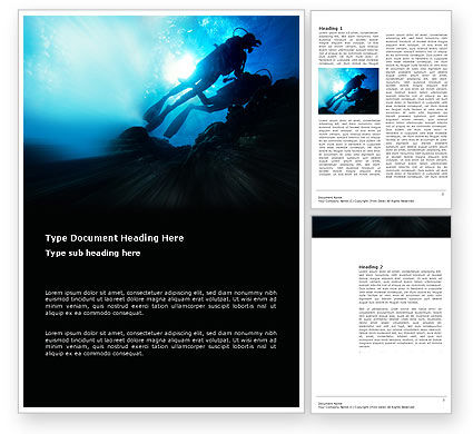 Sports: Diving Word Template #03439