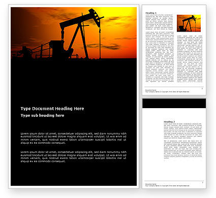 Utilities/Industrial: Oil Producer Word Template #03444