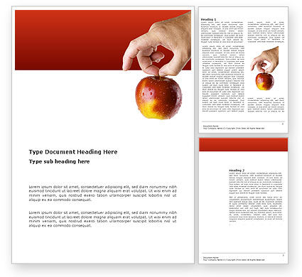 Business Concepts: Apple Word Template #03445