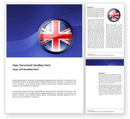 Flags/International: United Kingdom Word Template #03448