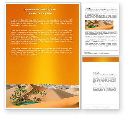 Oasis Word Template, 03452, Nature & Environment — PoweredTemplate.com