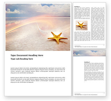 Nature & Environment: Starfish Word Template #03456