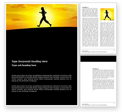 Sports: Run Word Template #03470
