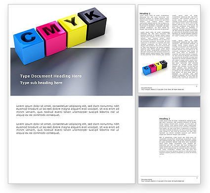 CMYK Word Template, 03474, Careers/Industry — PoweredTemplate.com