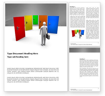 Choices Word Template, 03476, Consulting — PoweredTemplate.com