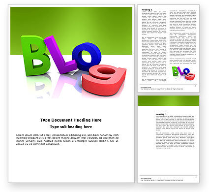 Blog Word Template, 03477, Careers/Industry — PoweredTemplate.com