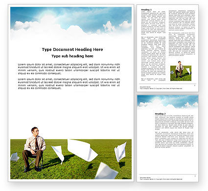 Paper Work Word Template, 03482, Business Concepts — PoweredTemplate.com