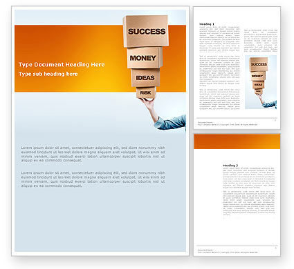 Blocks of Success Word Template, 03486, Business Concepts — PoweredTemplate.com