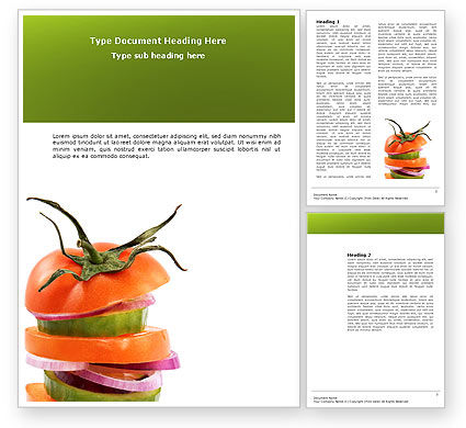 Fresh Vegetables Word Template, 03490, Food & Beverage — PoweredTemplate.com