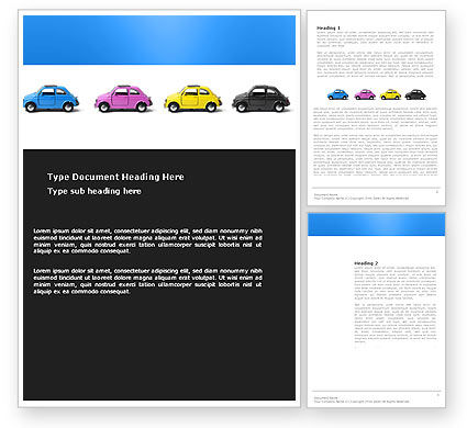 Minicars Word Template, 03491, Cars/Transportation — PoweredTemplate.com