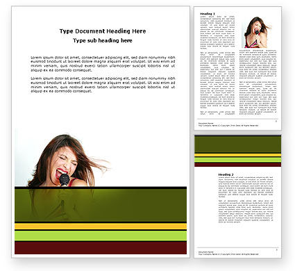 Singing Word Template, 03495, Careers/Industry — PoweredTemplate.com