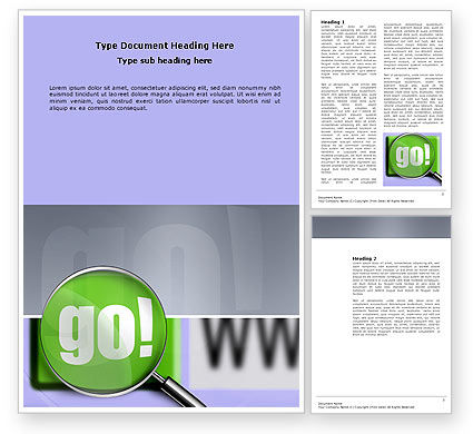 Search Engine Word Template, 03497, Telecommunication — PoweredTemplate.com