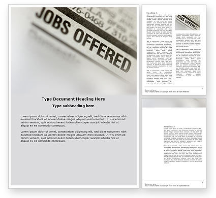 Careers/Industry: Recruiting Word Template #03500
