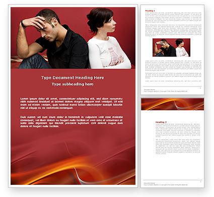 Quarrel Word Template, 03502, People — PoweredTemplate.com