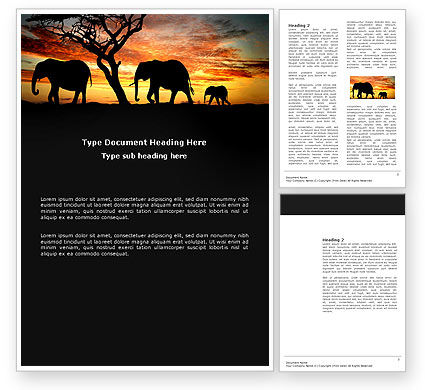 Nature & Environment: Savanna Word Template #03506
